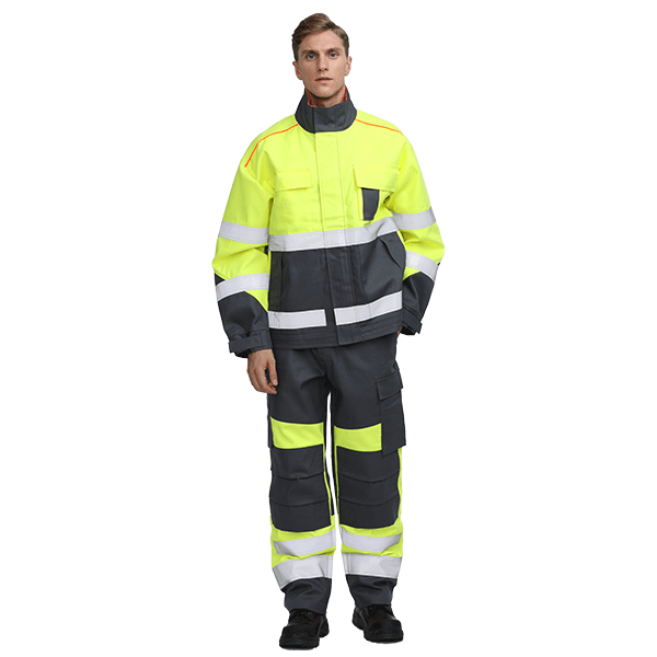 350gsm Hi Vis Protective Fire Safety Suit
