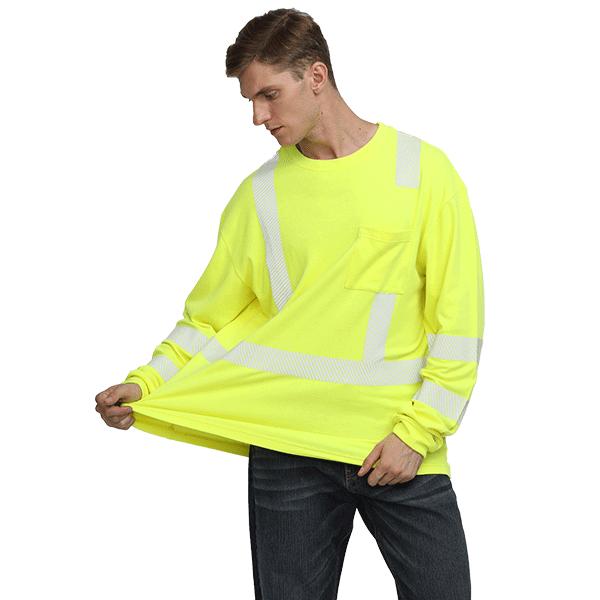 Hi Vis FR Safety Henley Shirt