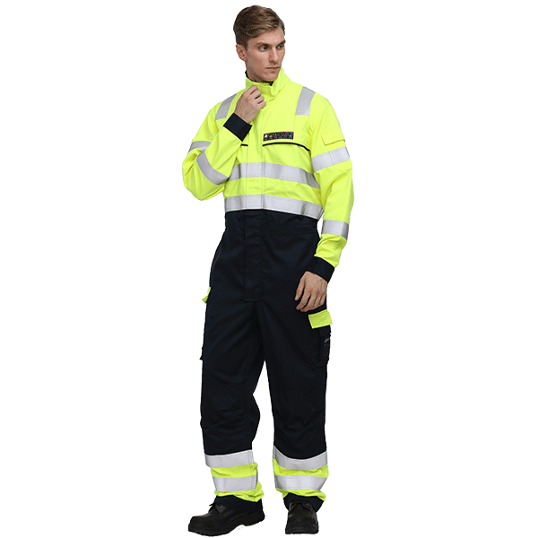 Hi Vis Fire Resistant Offshore Coverall