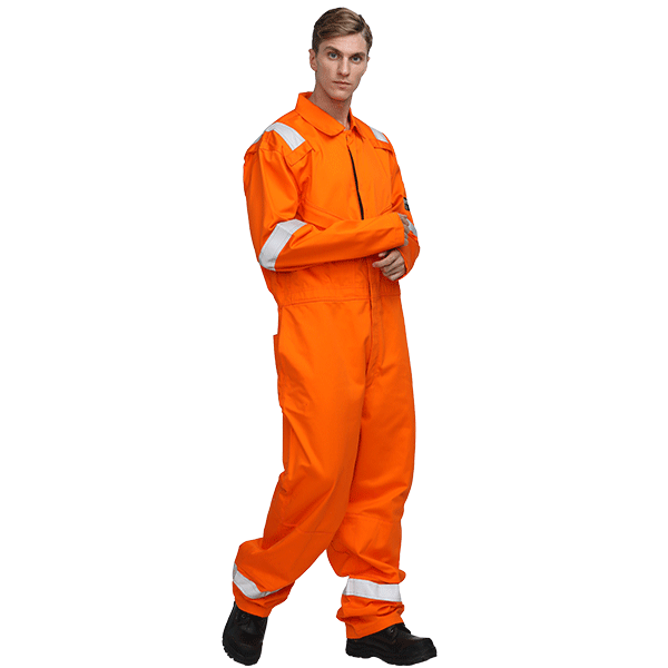 Flame Resistant Anti Static Orange Coverall