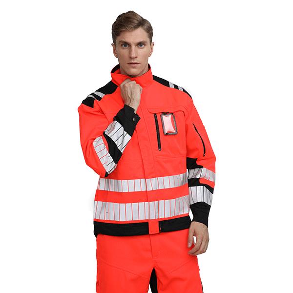 Flame Retardant Reflective Safety Jacket