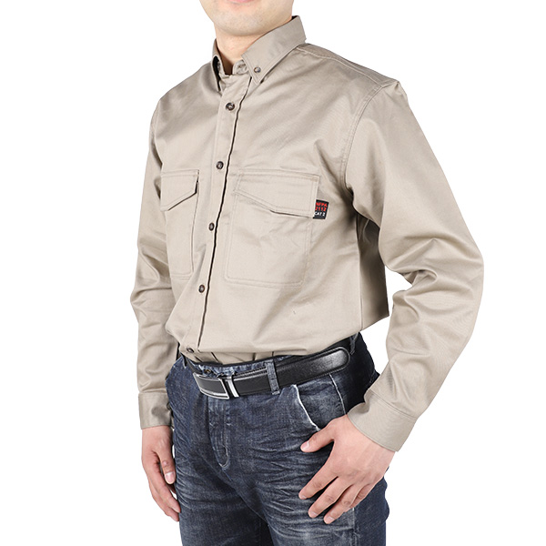 Cotton/Nylon Flame Retardant Button Down Shirt