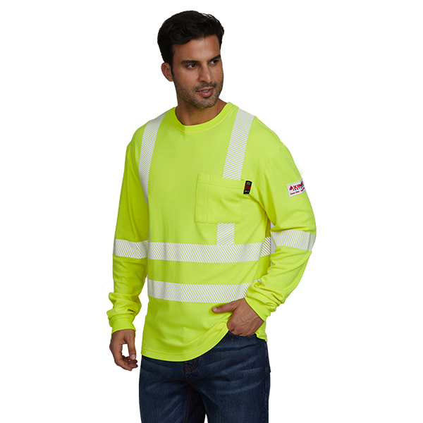 Hi Vis FR Safety Henley Shirt